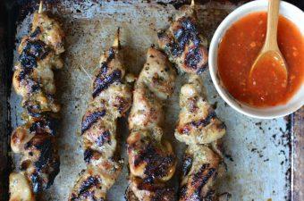 Thai Black Pepper Chicken Skewers Recipe