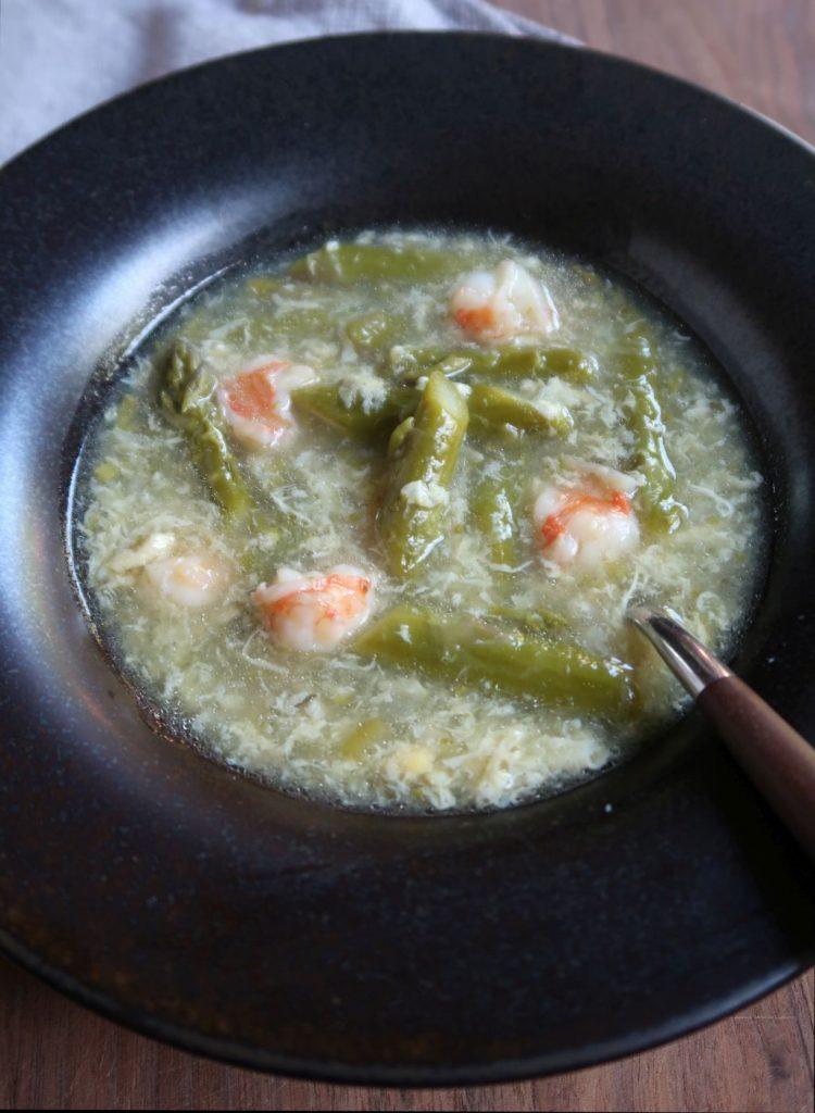 Asparagus Shrimp And Egg Drop Soup Recipe Viet World Kitchen
